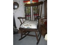 Rocking Chair, lovely solid wood traditional style rocking chair in good condition