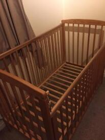 Babies cot and mattress