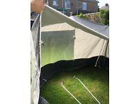 Caravan awning bedroom/storage