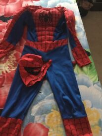 Spiderman costume with mask. Good condition