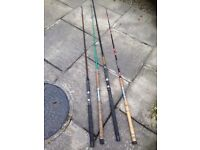 Sea fishing rods