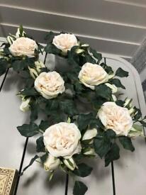 Set of 6 artificial flower pots