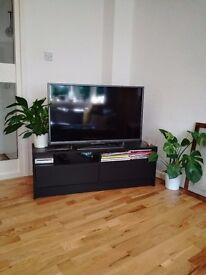 Ikea Black / Brown TV Bench
