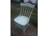 Upcycled, shabby chic chair, painted and waxed.