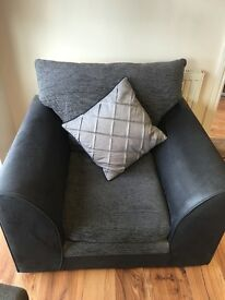 2 black & grey Lounge chairs available. Very comfortable. For sale due to premises move