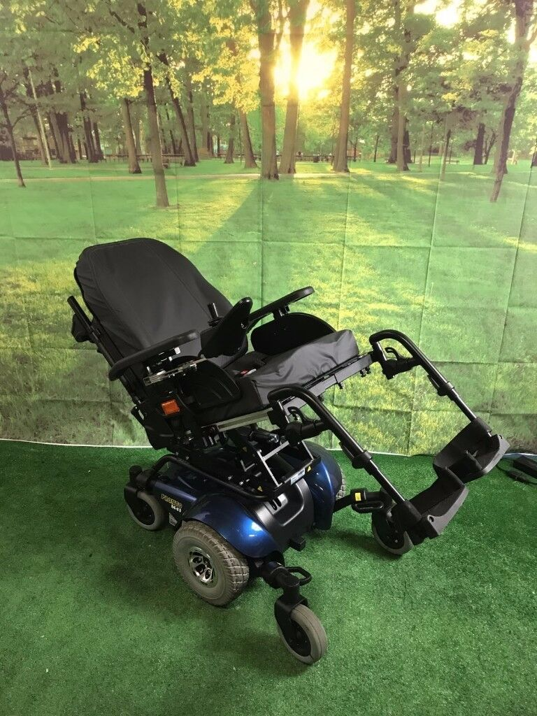 STUNNING 2016 Invacare Pronto M41 Powerchair WITH ELECTRIC TILT in BLUE Electric Wheelchair 4MPH
