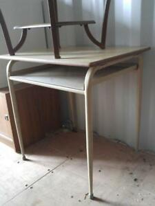 "Oakville  HIGH UTILITY TABLE 30""Wx24""Dx30""H Retro Metal Solid Vintage Solid Steel Mid-Century Kitchen Work Shop Garage"