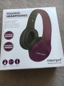Intempo folding headphones