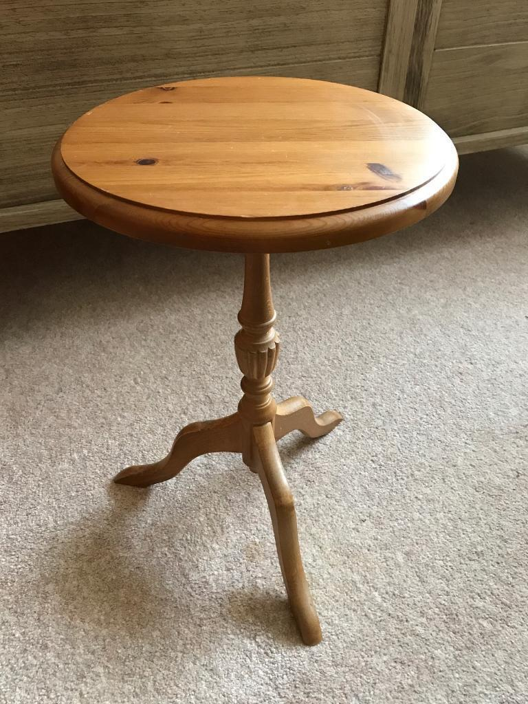 Small solid pine wine side occasional table