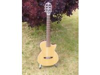 Crafter electro-nylon solid, plays & sounds great. Grab a bargain.