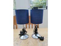 Set of 2 bedside lamps