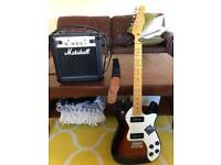 Semi Hollow Fender Telecaster + Marshall amp