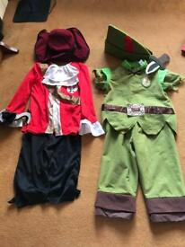 Captain Hook and Peter Pan fancy dress age 3-6