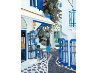 Skiathos Town Shops A3 Giclee limited edition prints