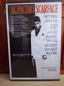 Al Pacino Scarface Mounted Framed Poster A Cinema Classic