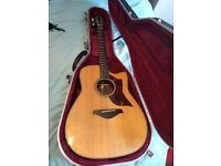 YAMAHA A3R Natural Electro Acoustic Guitar with Hiscox Hard Case