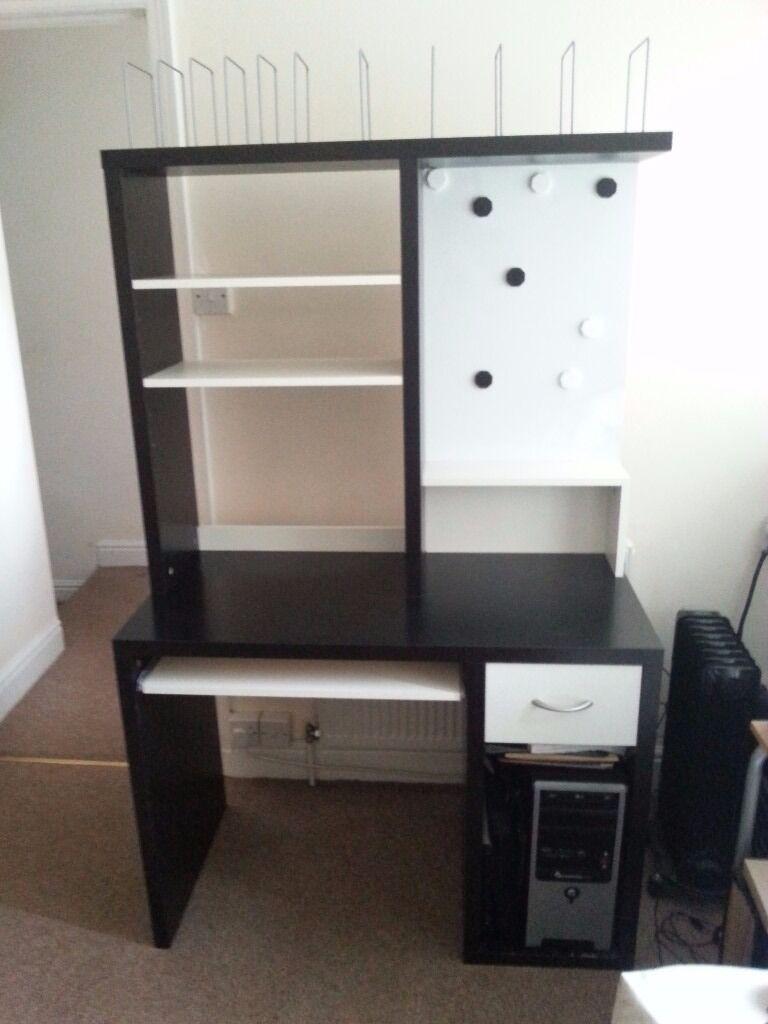Ikea Mikael Computer Desk With Built In Keyboard Shelf