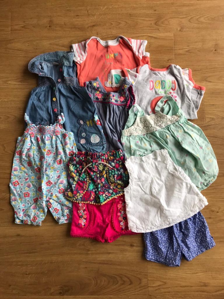 3fcdbe7db Girls Summer Rompers  Size 3 to 6 month