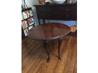 Cherry Drop-Leaf Side Table