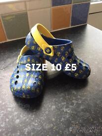 Minion croc shoes