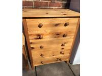 Pine drawers,good solid condition