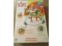 Bright Starts Smiling Safari Activity Jumper - NEW