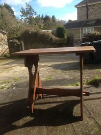Solid wood drop leaf table