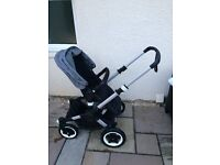 Bugaboo buffalo with brand new grey melange fabrics