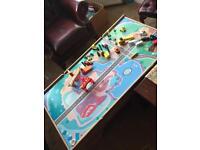 Kids train set table