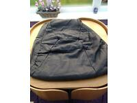 New unused dark brown leather for craft work activities