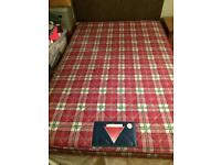 Small double bed with mattress & headboard