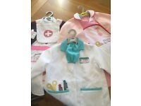 ELC doctors and nurses outfits age 3-5 yrs (x3)