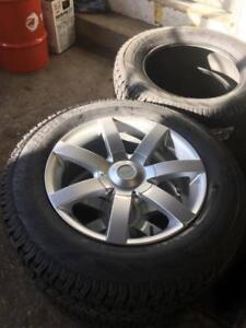 Alloy wheel and Tire package 6x120 & 6x132 Hercules snow tires 235/65R18