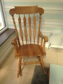 Wooden Rocking chair - Sold !