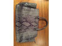 Michael kors handbag, grey, snake leather