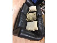 Large 2 seat leather sofa