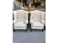 Button Back Wing Armchair , excellent quality and condition. £250each or the pair for £450 .