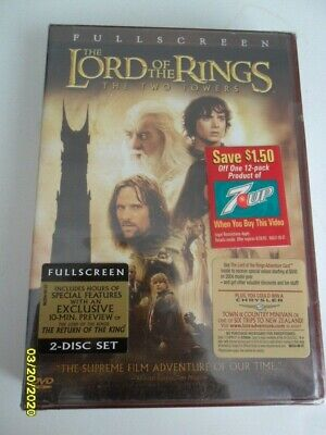 The Lord of the Rings: The Two Towers (DVD, 2003, 2-Disc Set, Full Frame Two...