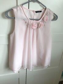 Girls pink flow shirt