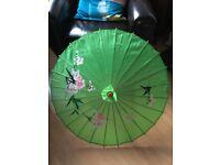 Green Wooden Decorative Floral Parasol / Sunshade / Umbrella home furnishing Valentines Birthday