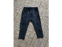 Zara plaid trousers 2-3years