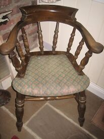 Captains chair. Really heavy and solid. Can be used as it is or suitable for upcycling etc.