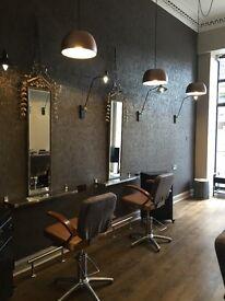 Recently refurbished Bruntsfield hairdressing salon for lease.