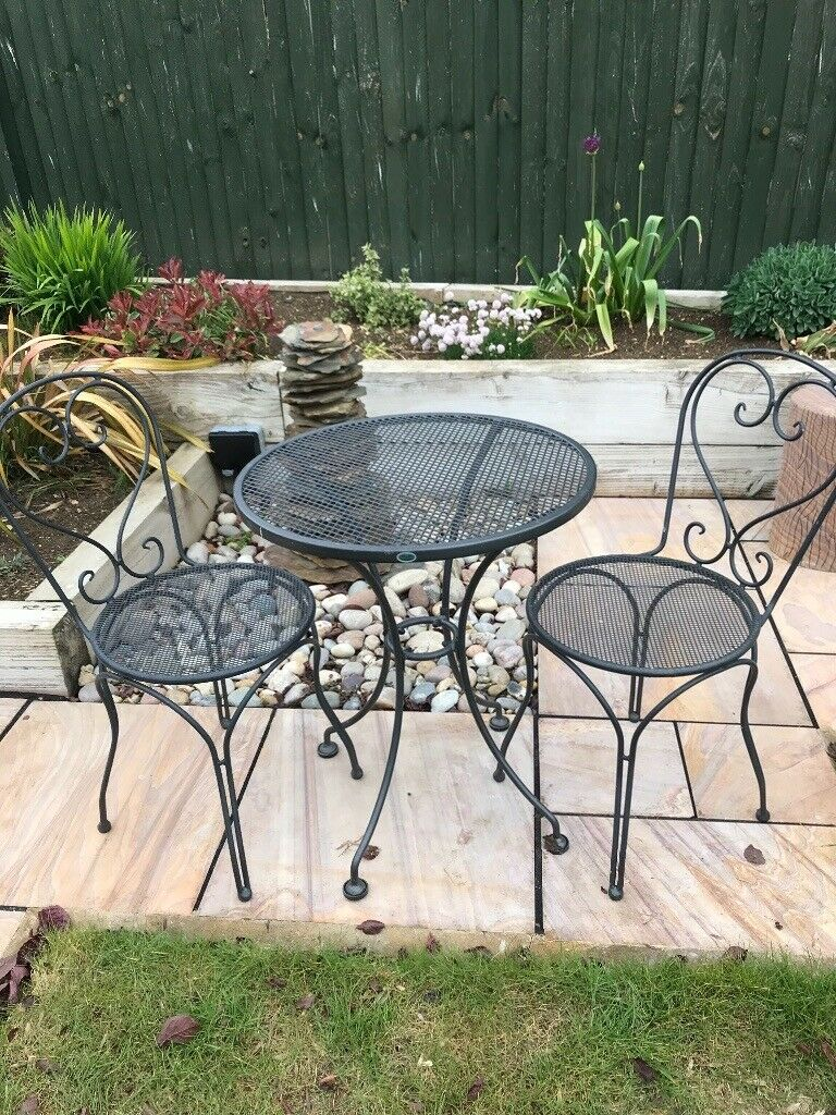 Kettler Royal Garden Round Patio Table And Two Chairs