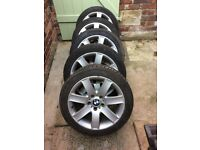 BMW E46 ALLOY WHEELS AND WINTER SNOW TYRES