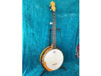 "Woodtone ""Eclipse"" hand made 5 string banjo built by Helmut Rheingans"