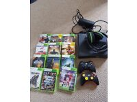 Xbox 360 bundle, headphones, two controllers and 12 games