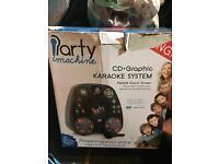 Small karaoke machine/cd player