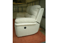 Electric Double Seater Recliner Sofa and Foot Rest storage stool. Almost new, Almost new.