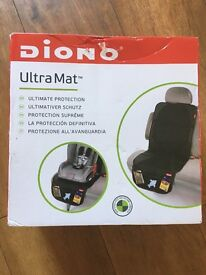 Diono Ultra Mat car seat cover in black